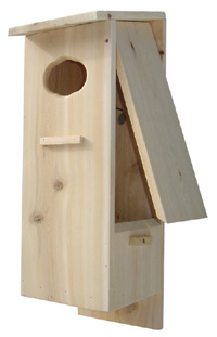 split door wood duck house